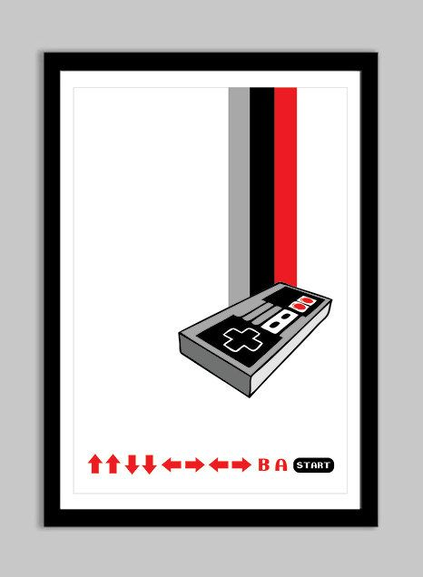 13 x 19 poster nes up up down down left right left right b a