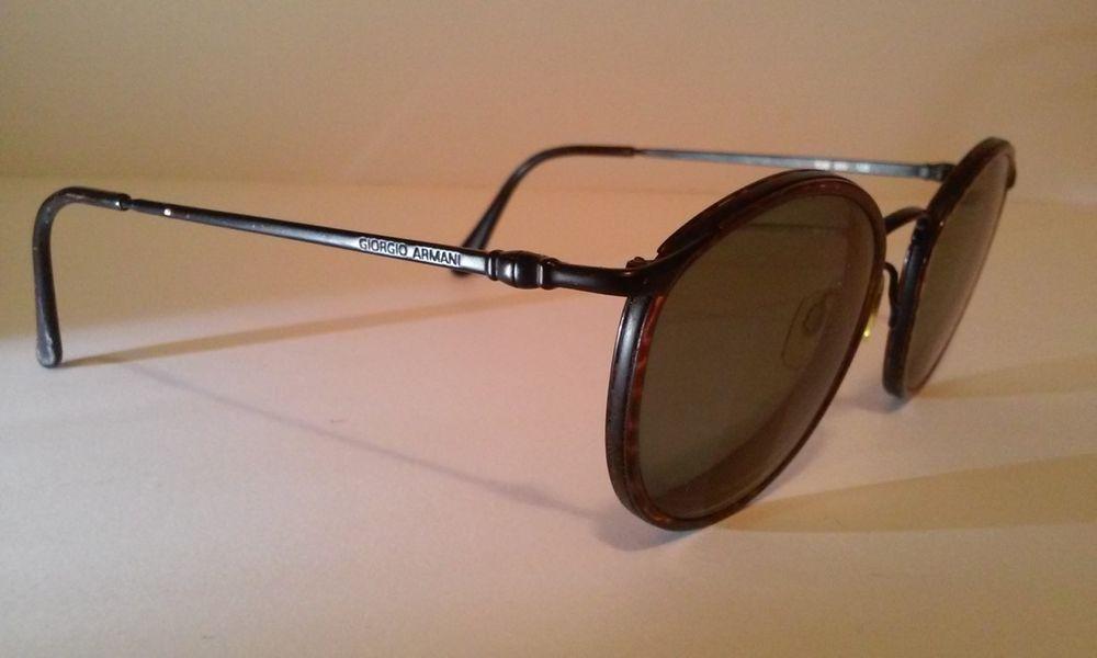 Vintage giorgio armani eyeglasses frame black tortoise 638 899 135 ...