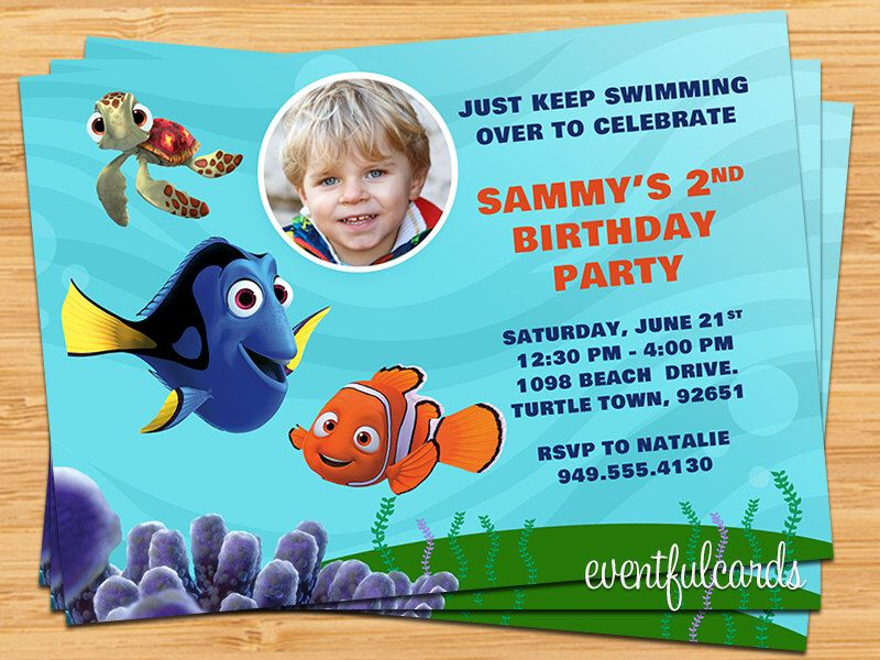 Finding Nemo Birthday Party Invitation Printable Digital File by ...
