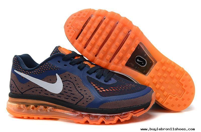 Buy Nike Air Max 2014 Mesh Black Navy Blue Orange Mens Shoes
