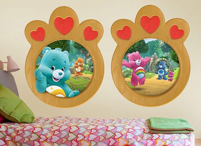 "Care bears bashful wall sticker glossy cut out border 6/""-9.5/"" inch"