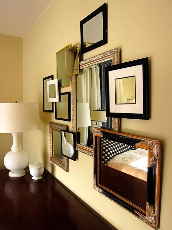 Mirror wall art ideas | Decorative items, Walls and Art decor