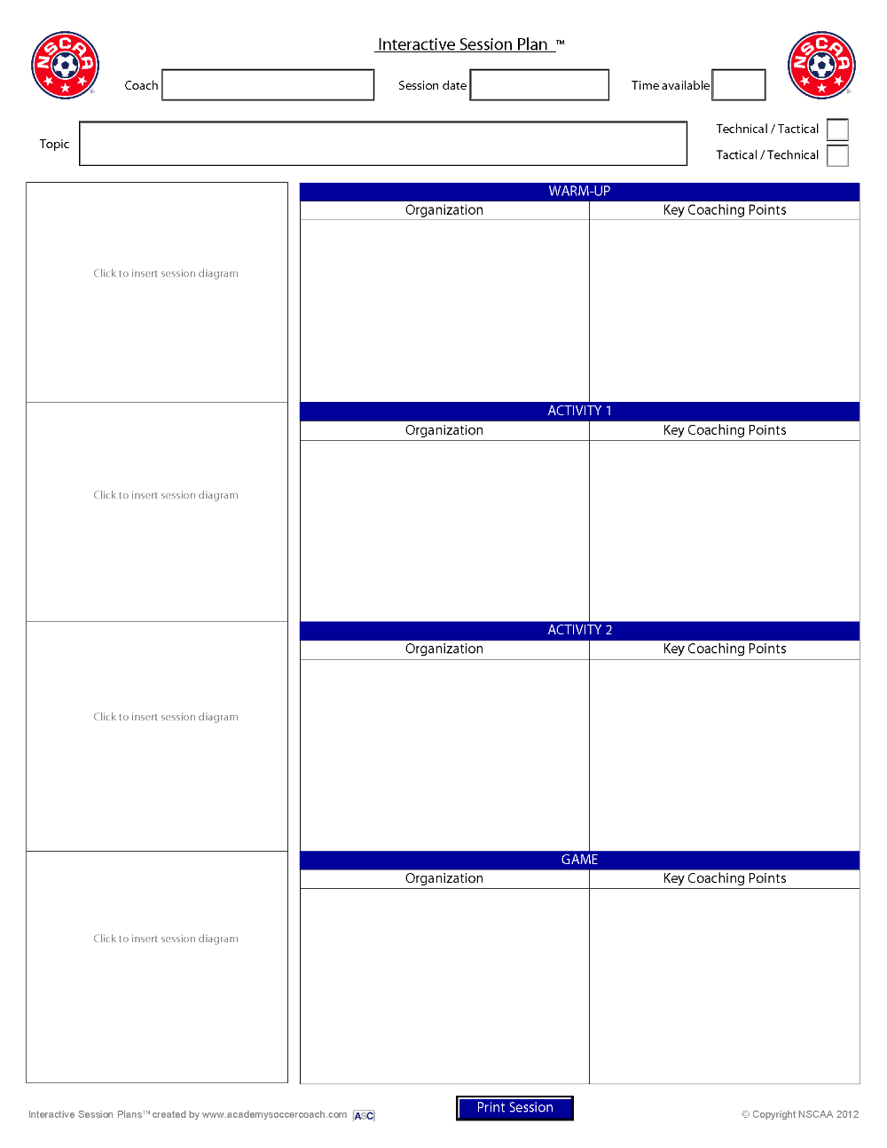 Interactive Session Plans™ Academy Soccer Coach Asc