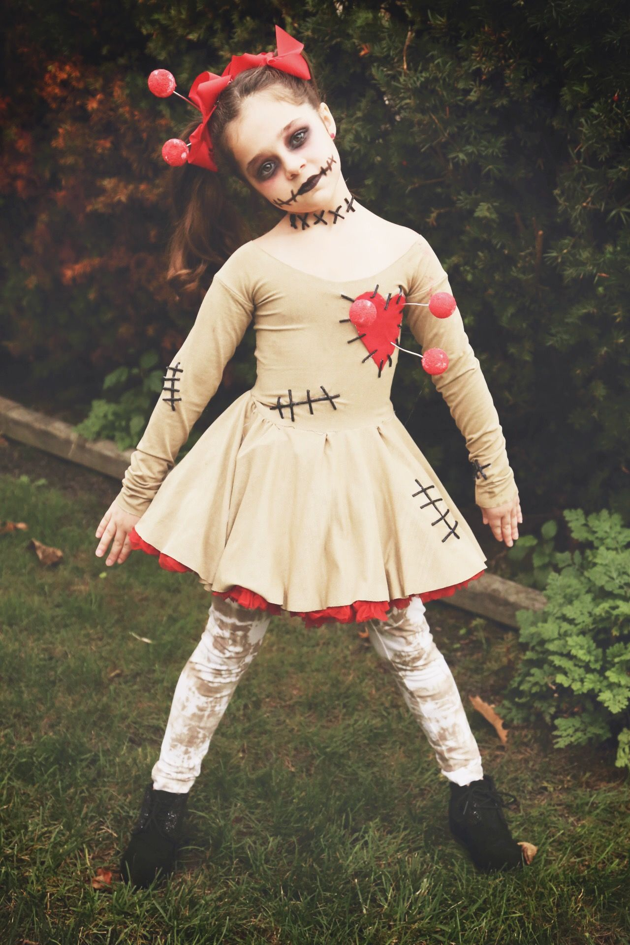 Superb Kids Voodoo Doll Costume. DIY