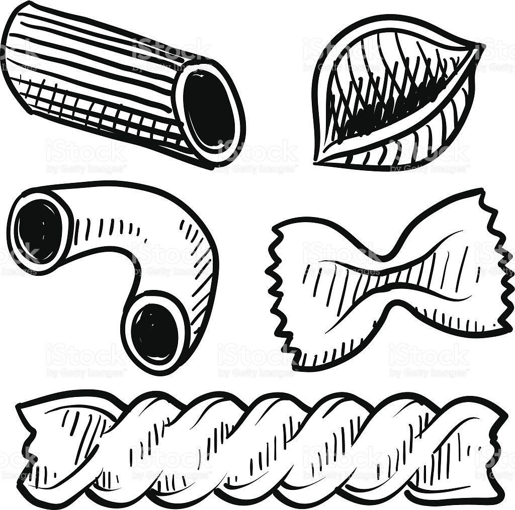 Pasta Assortment Sketch Royalty Free Pasta Assortment Sketch Stock Vector Art More Images Of Drawing Art Prod Illustration Doodle Kochbuch Selbst Gestalten