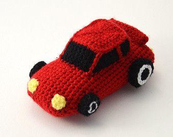 Amigurumi Patterns Cars : Race car racecar car sports cars amigurumi toy crochet