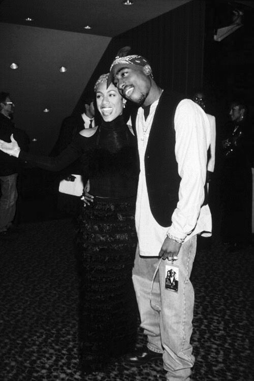 """2Pac & Jada Pinkett: At """"A Low Down Dirty Shame"""" event, March 18, 1994."""