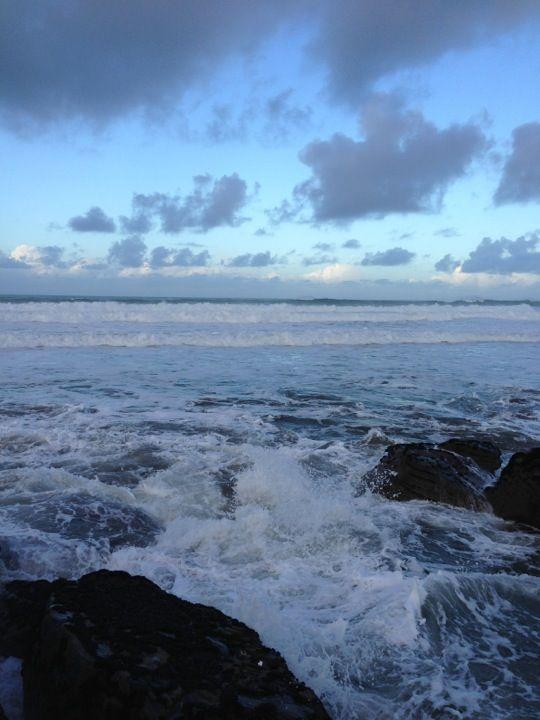 Trebarwith Strand Beach in Cornwall, Cornwall