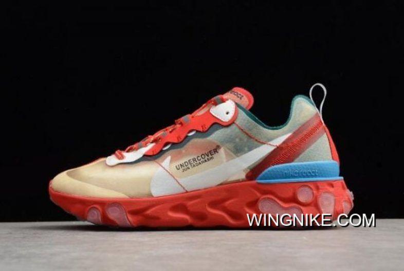 Undercover X Nike React Element 87 RedLight GreenSail