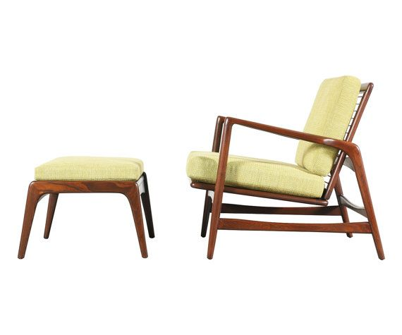 Ib Kofod Larsen Reclining Lounge Chair with by DanishModernLA