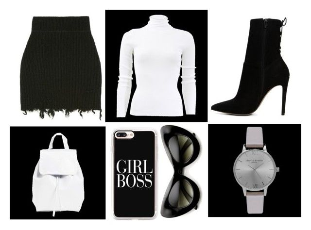 B L A C K & W H I T E by yungkiko on Polyvore featuring polyvore, fashion, style, Michael Kors, ALDO, Mansur Gavriel, Olivia Burton, Casetify, ZeroUV and clothing