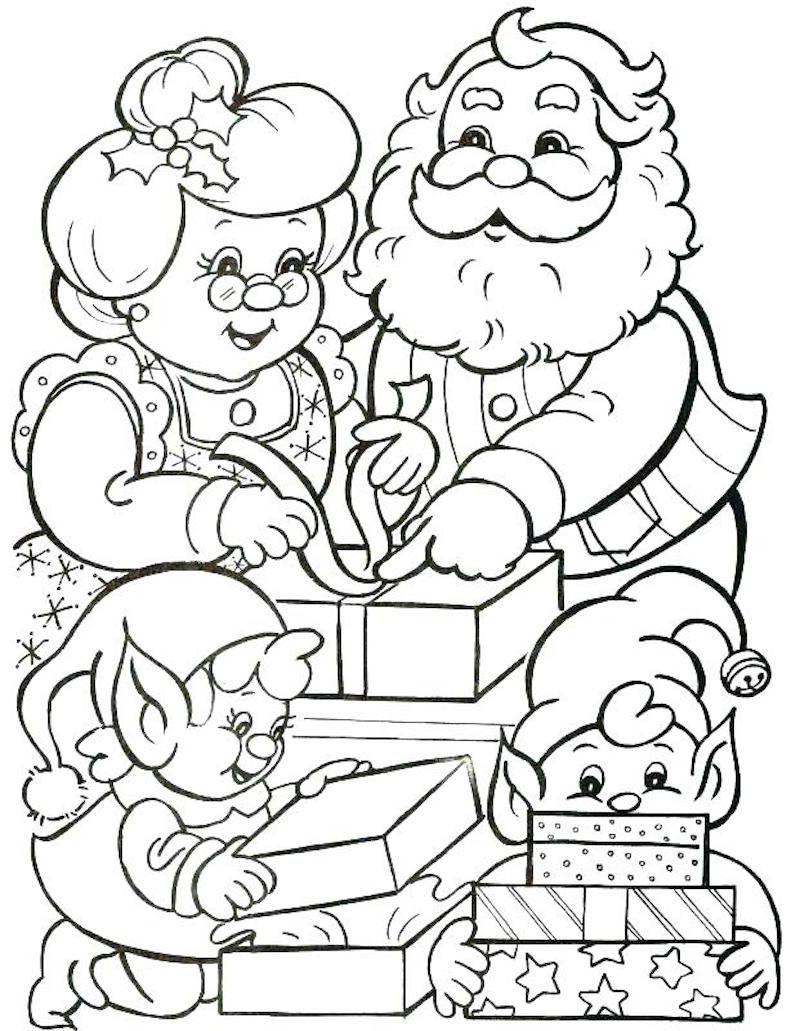 1001 Idees Coloriage De Noel Pour Des Fetes Pleines De Couleurs Santa Coloring Pages Christmas Coloring Sheets Christmas Coloring Pages