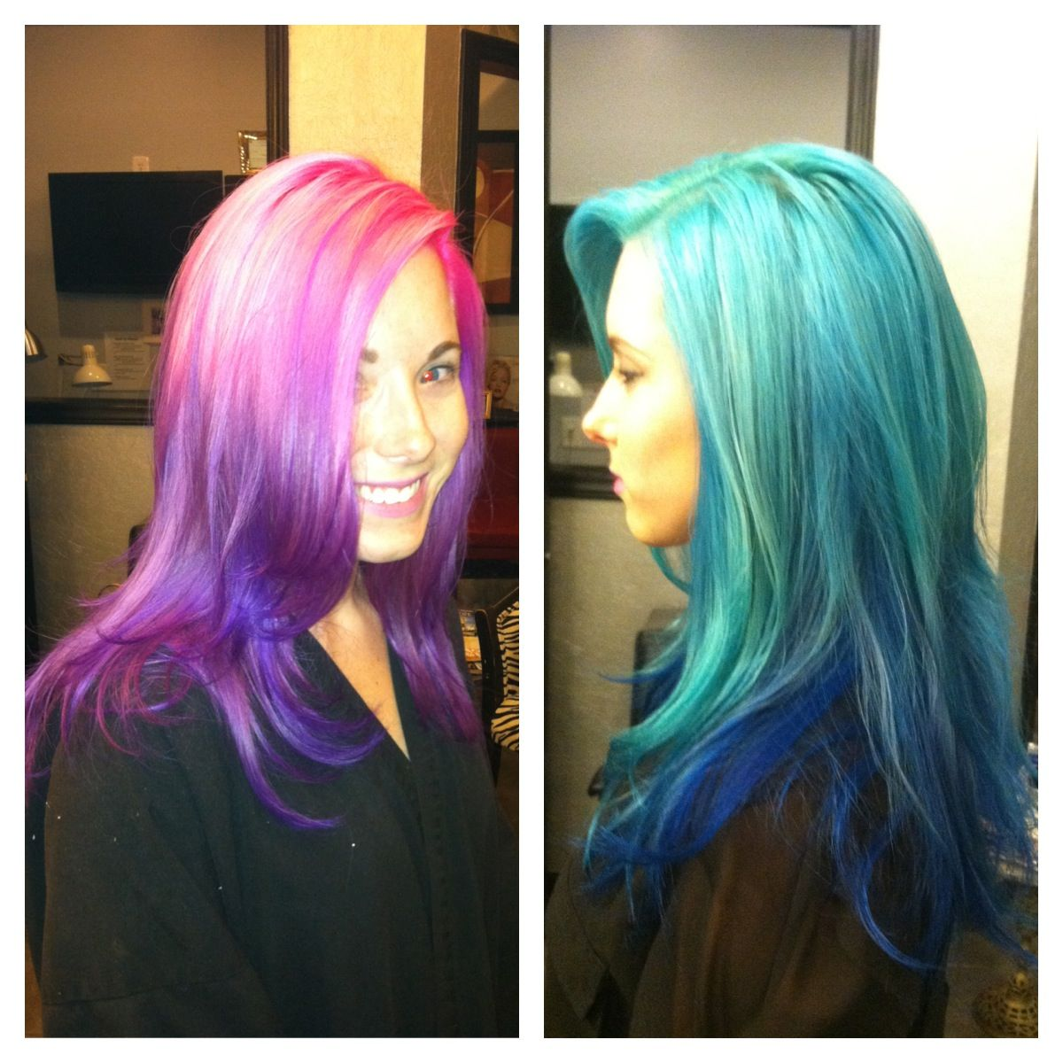 If i us d these colors iud do one half of my head w each color