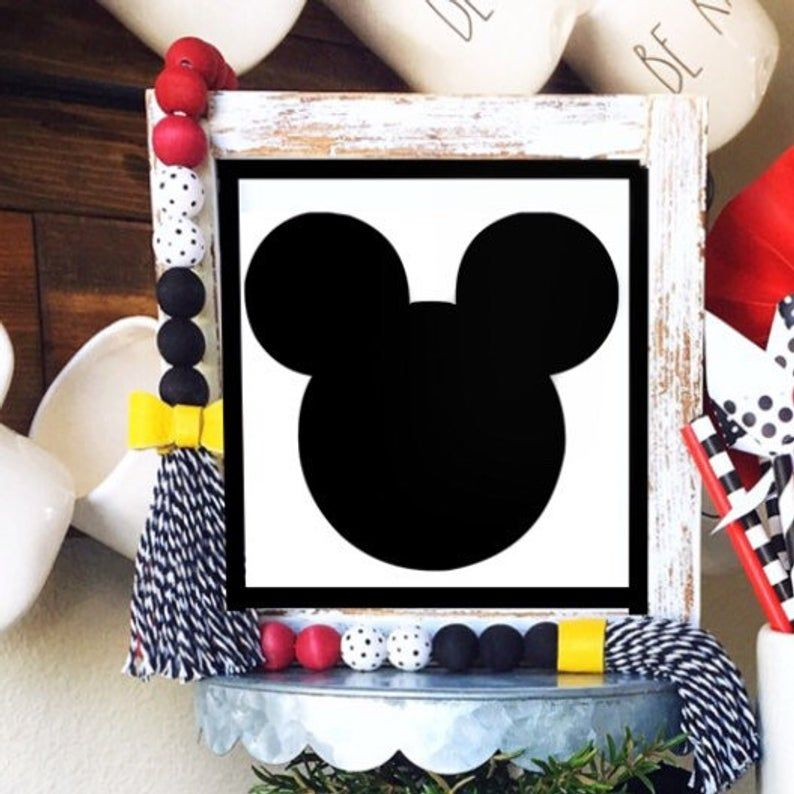 Disney Mickey Mouse Minnie Mouse Farmhouse Beads Wood Bead