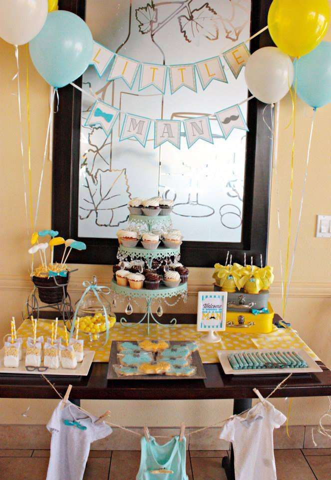 Little Man Baby Shower Party Ideas Baby Showers Pinterest Baby