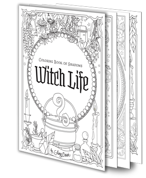 Coloring Book Of Shadows Witch Life Etsy Book Of Shadows Coloring Books Witch Coloring Pages