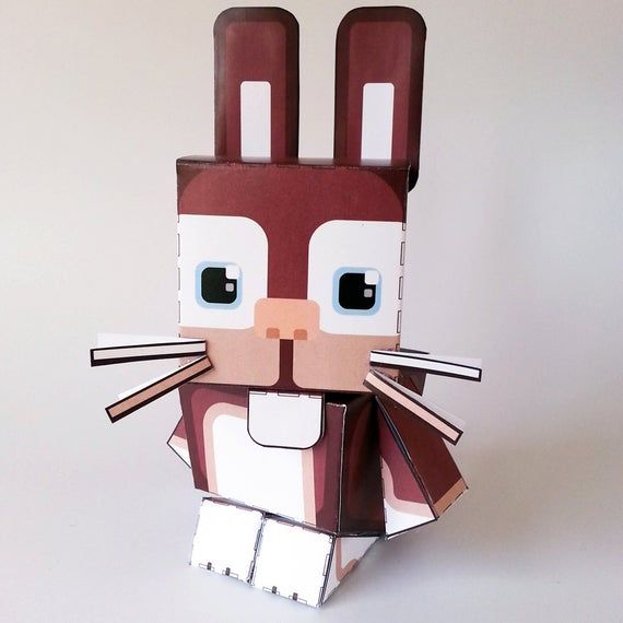 Paper Craft Activity Red Bunny Rabbit - 80% of SALES DONATED TO www.rabbitrunaway.org.au – Easter kids craft for boys and girls