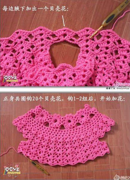 Patron para hacer un vestido a crochet para niña03   Babies things ...