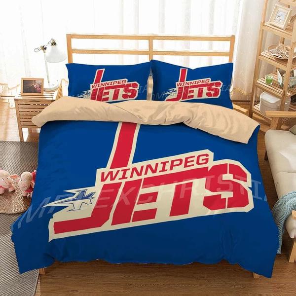 Photo of 3D Customize Winnipeg Jets Bedding Set Duvet Cover Set Bedroom Set Bedlinen