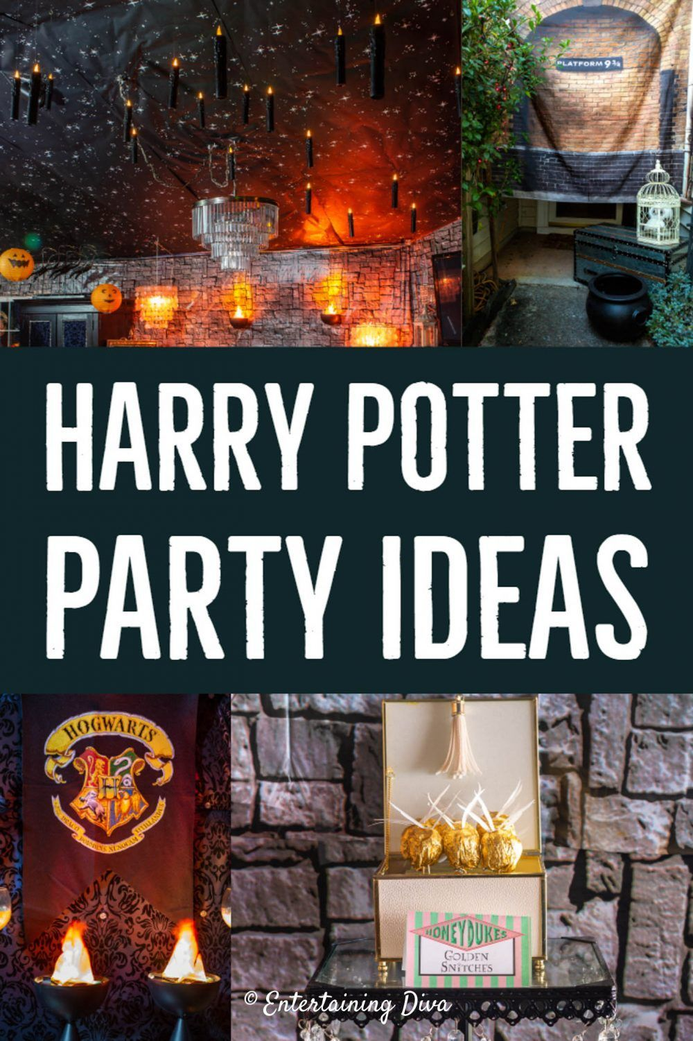 20 Awesome Harry Potter Party Ideas Entertaining Diva From House To Home Harry Potter Birthday Party Harry Potter Table Harry Potter Party