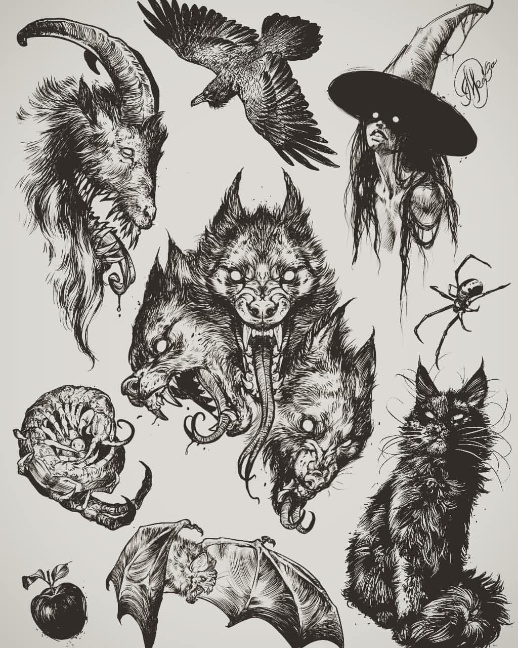 95 Otmetok Nravitsya 4 Kommentariev Tattoo Ink Class Tattooinkclass V Instagram Halloween Sketches Dark Tattoo Sketches Traditional Tattoo Sleeve