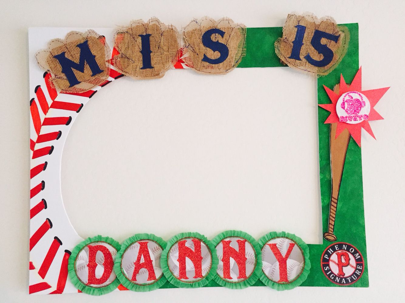 Baseball Party Frame idea to Decoration and take pictures. Follow me ...