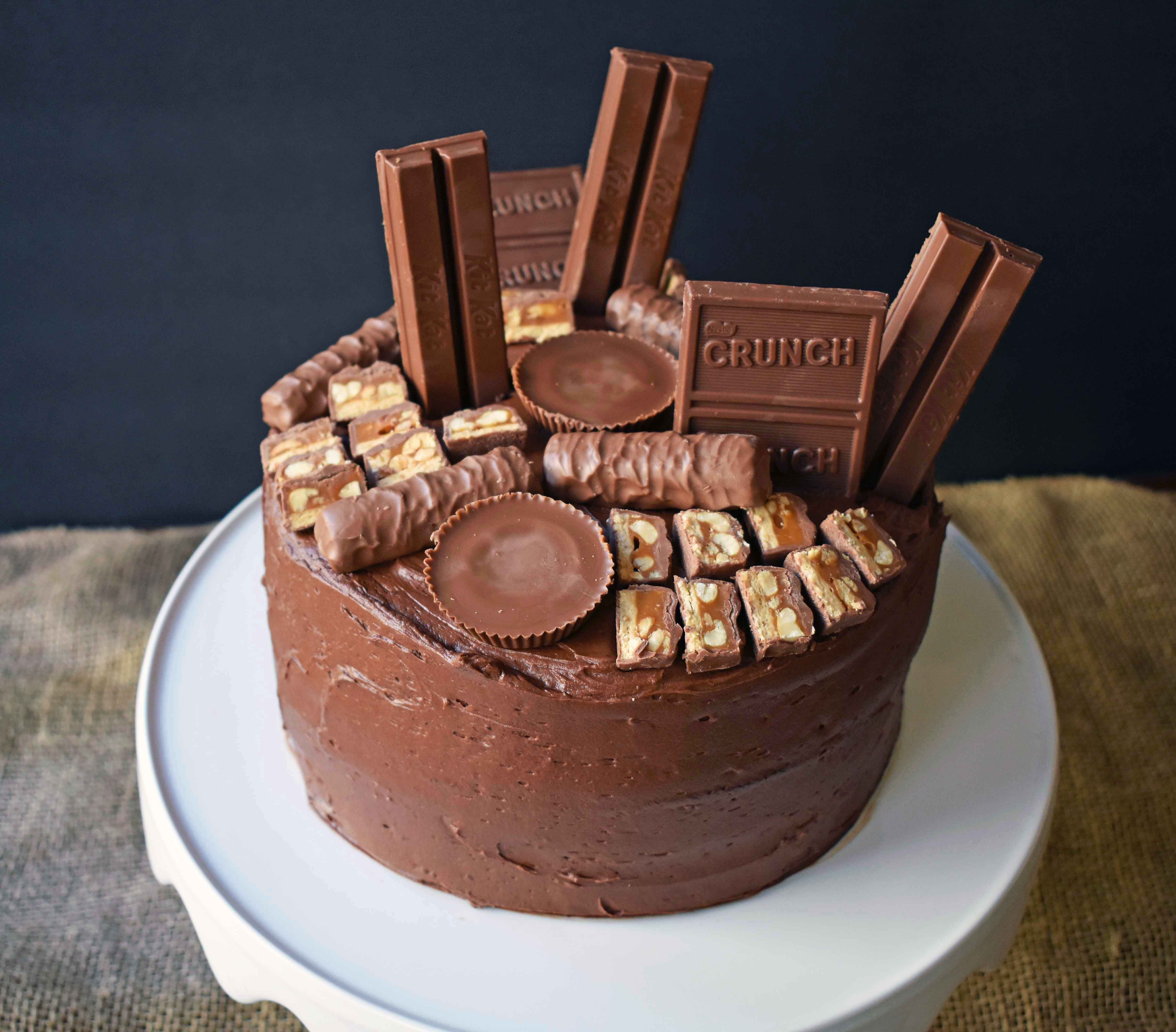 Candy Bar Stash Chocolate Cake By Modern Honey Perfect Chocolate