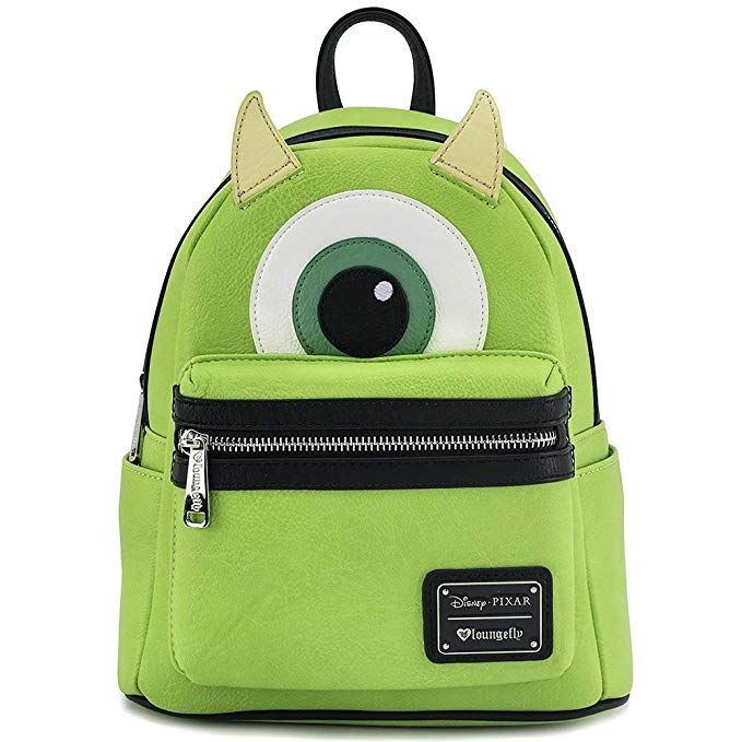 99b8b52f02d83c ... more photos 5e520 f3735 Loungefly Mike Wazowski Faux Leather Mini  Backpack Review ...