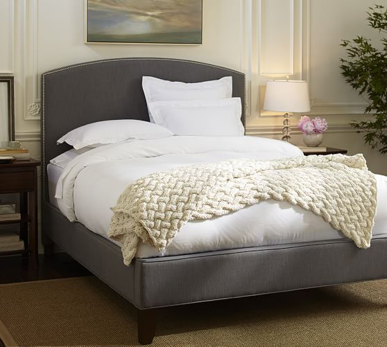 Fillmore Curved Upholstered Tall Bed & Headboard