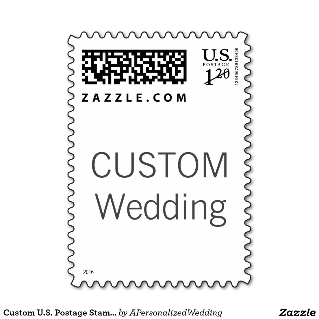 Custom U.S. Postage Stamp 1st Class Large Env. 2oz | Favors and Wedding