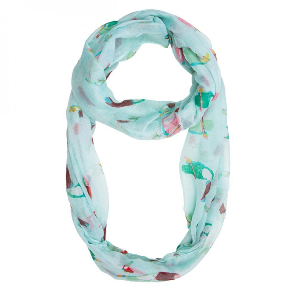 Mint Shauna Toucan Infinity Scarf