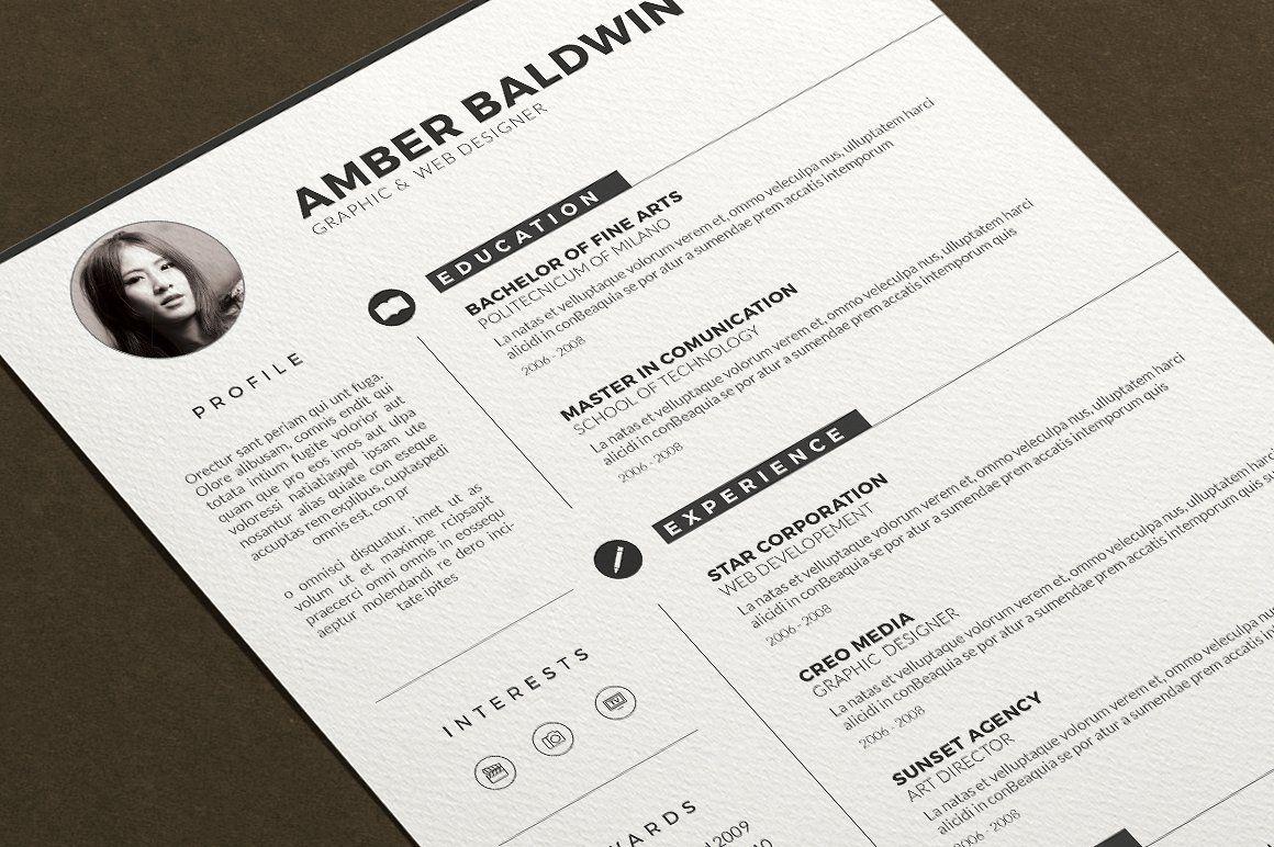 Resume by Estartshop on @creativemarket | Resúmes | Pinterest