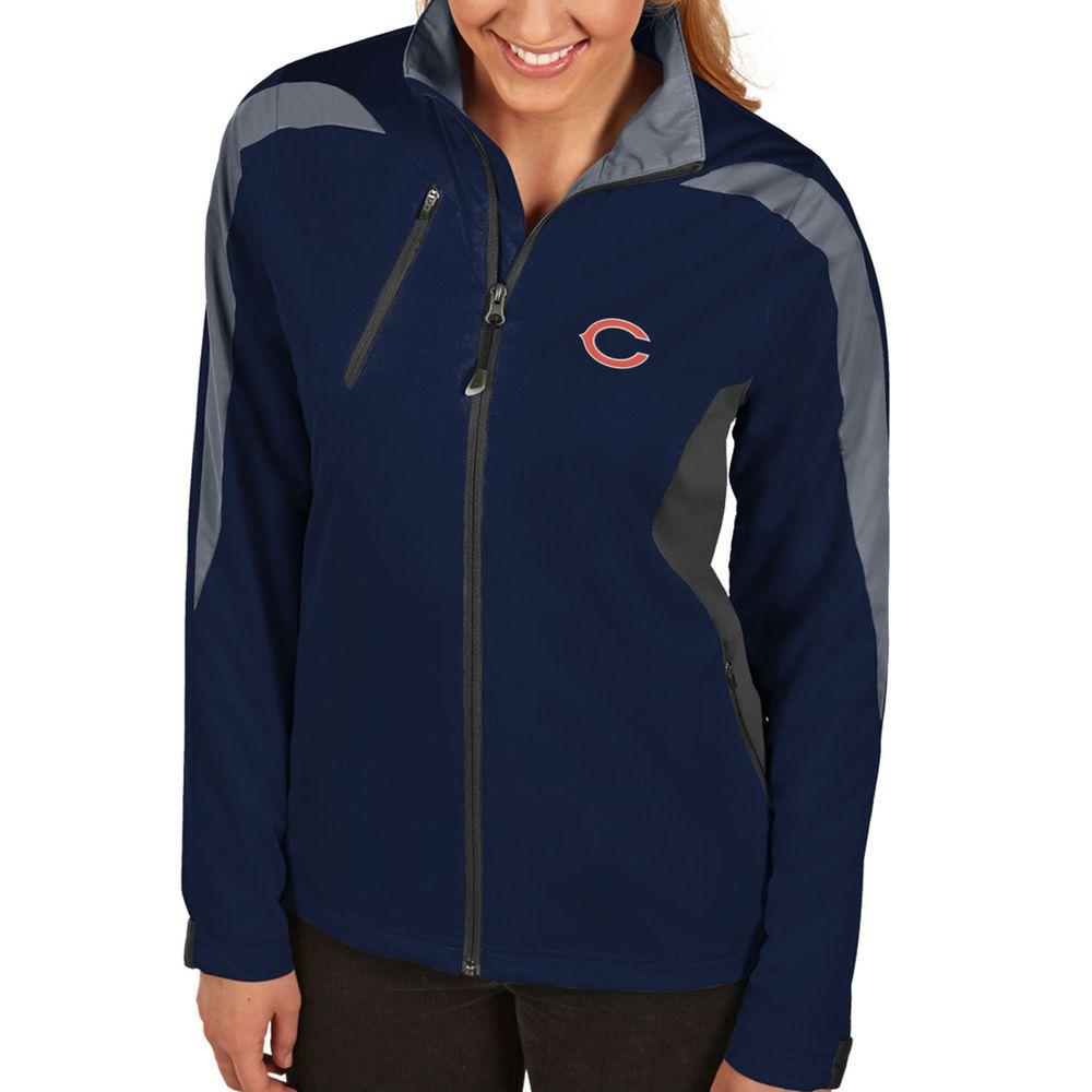 Chicago Bears Antigua Women's Discover Full Zip Jacket - Navy Blue