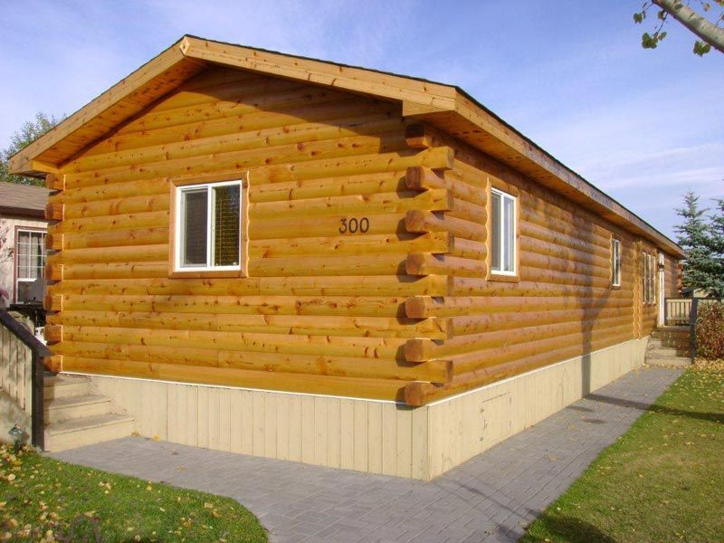 Reface Your Manufactured Home With Log Siding #97