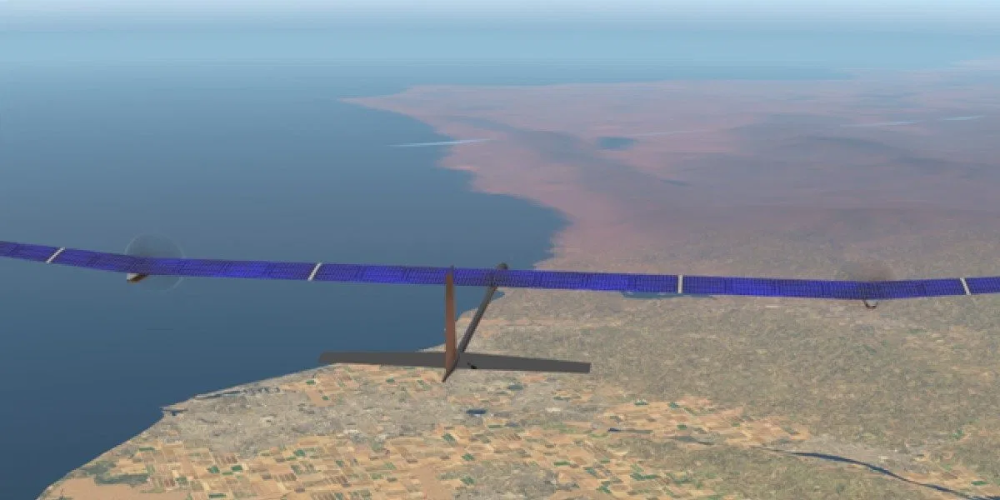 Solar airplane aims to stay afloat for a whole year in