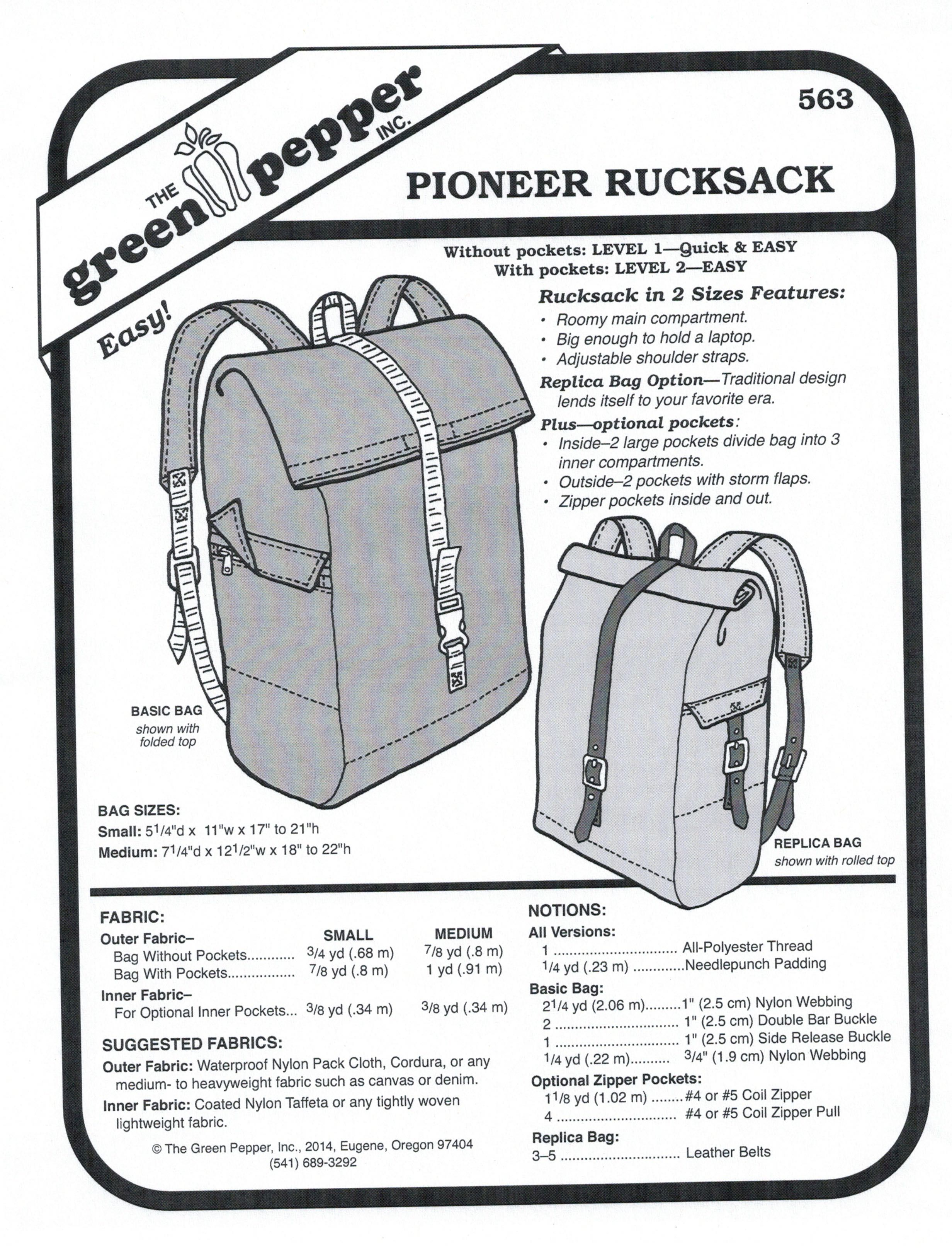 Pioneer rucksack sewing pattern sold per each sewing patterns pioneer rucksack sewing pattern sold per each jeuxipadfo Choice Image