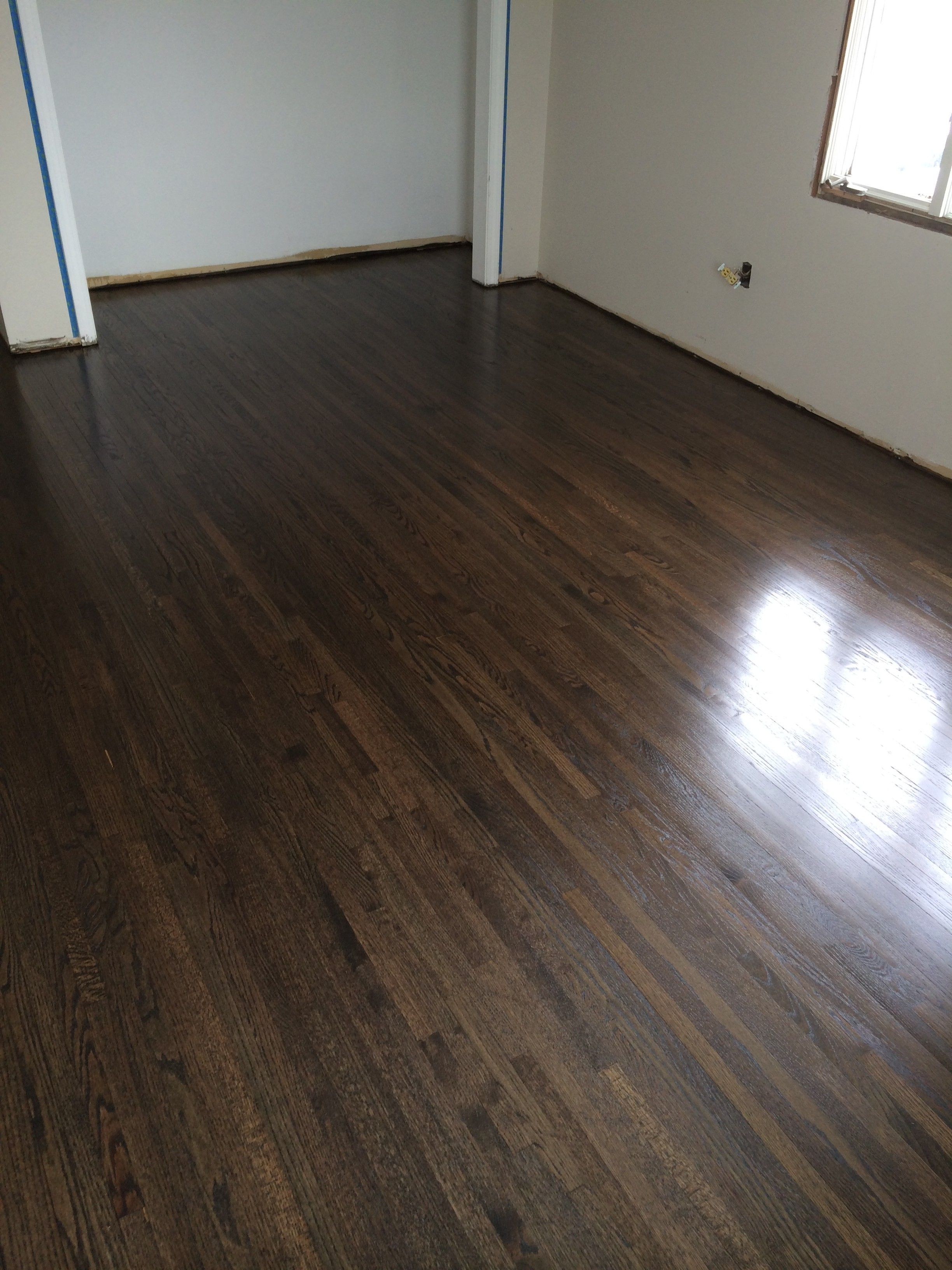 50 50 Ebony And Dark Walnut After 3rd Coat Flooring And Tile In