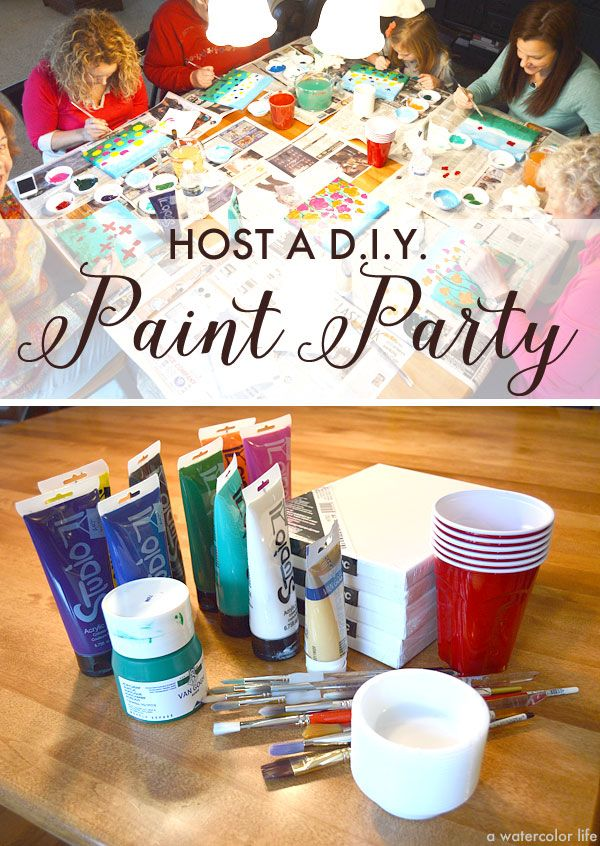Host A D I Y Art Canvas Painting Party Paint Wine And