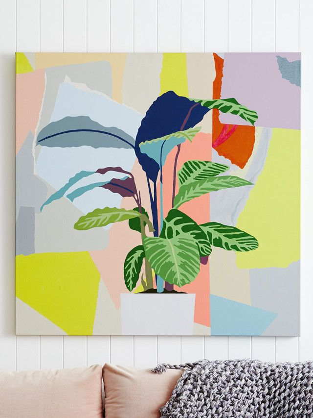 Discover artist Leah Bartholomew's bright, abstract botanicals - The Interiors Addict