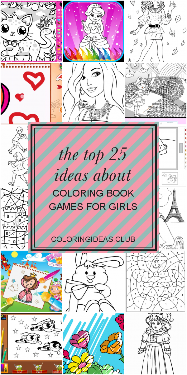 The Top 25 Ideas About Coloring Book Games For Girls Barbie Coloring Pages Coloring Games For Kids Coloring Books