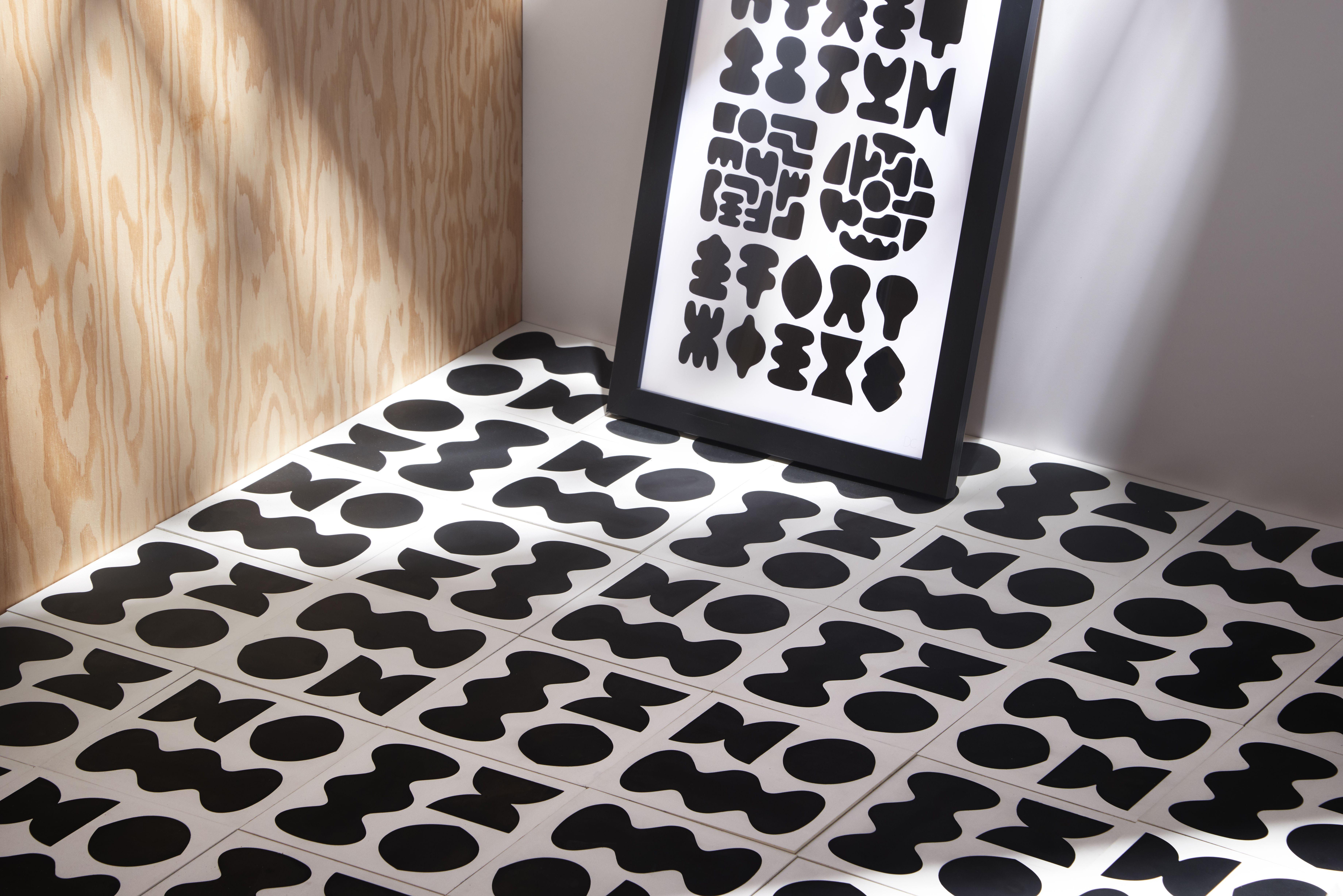 Dan Covert Felt Tile In 2020 Encaustic Tile Design Milk Tile Work