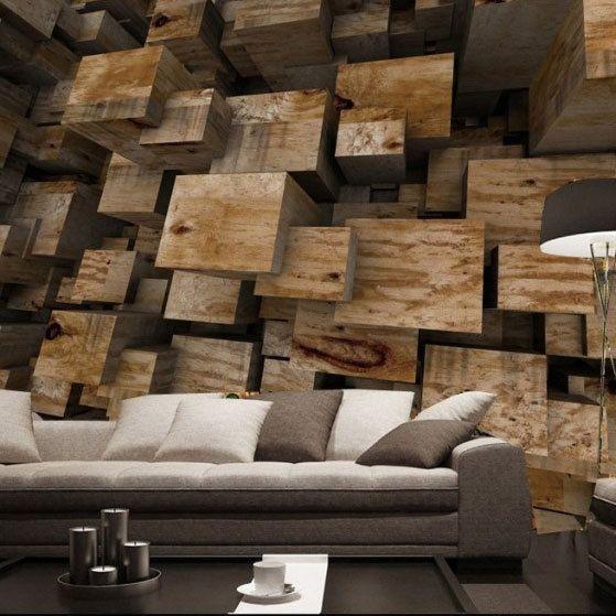 Eco Friendly 3d Mural Wood Carving Papel De Parede Background Ktv