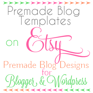 Premade blog templates blogging etsy store and blog design premade blog templates on etsy starting at 2000 cute designs different extras pronofoot35fo Images
