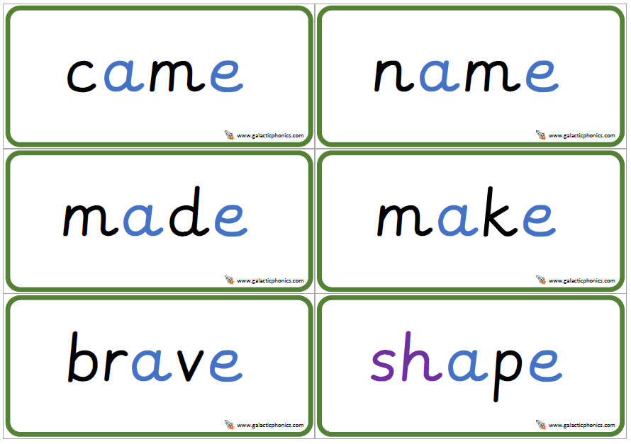 Free Set Of A E Split Digraph Double Sided Phonics Words Phonics Words Phonics Worksheets Phonics