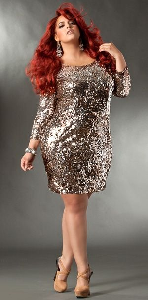 1000  images about Metallic Fashion: Plus Size Edition on ...