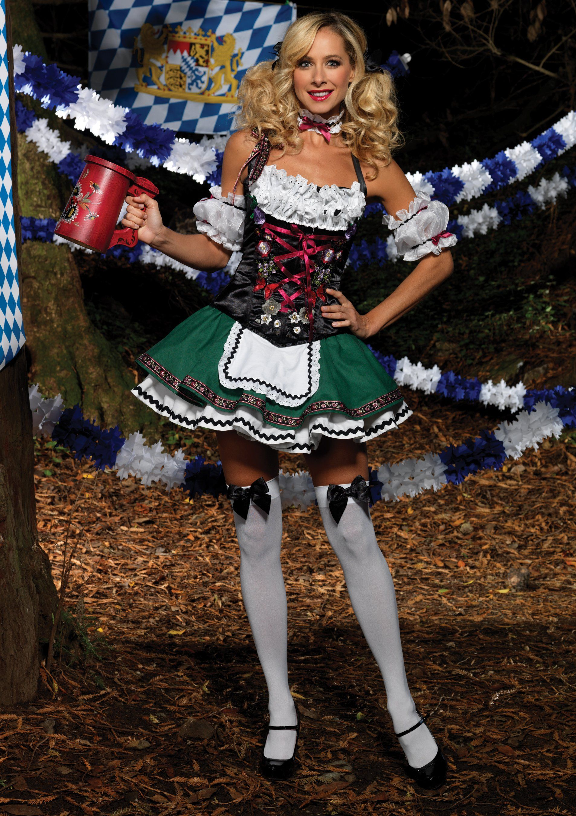 German Beer Maid Costume Adult Oktoberfest Dirndl Dress