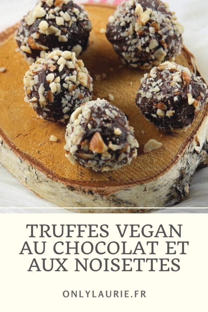 Recette De Truffes Vegan Au Chocolat Et Aux Noisettes Truffe Recette Recette Truffe Chocolat Truffe