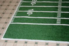 How To Make A Football Field Rug Out Of Outside Carpet, Perfect For Laying  Out Ideas
