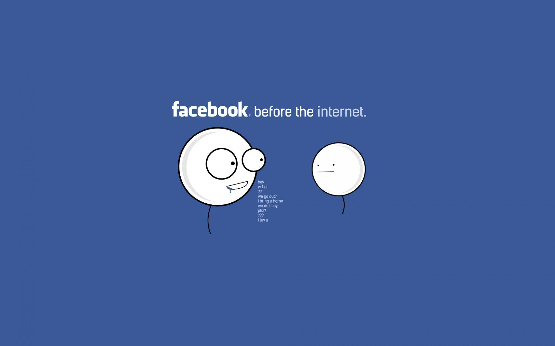Funny Quotes About Facebook Wallpaper