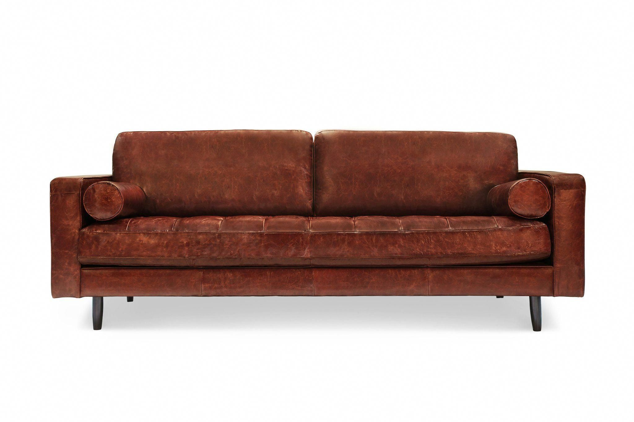 Peachy 109Lthbrn Freeman Sofa In Distressed Brown Leather A Few Short Links Chair Design For Home Short Linksinfo